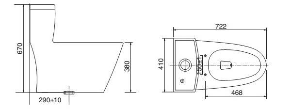 bản vẽ bồn cầu viglacera v62