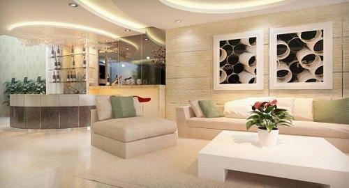 Có nên ốp gạch tường phòng khách cho nhà không