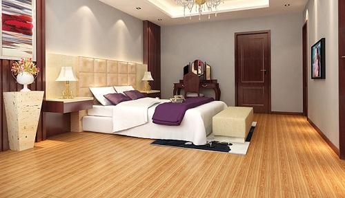Chọn màu gạch lát nền phòng ngủ Viglacera