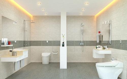 chọn gạch ốp lát phòng tắm theo màu sắc