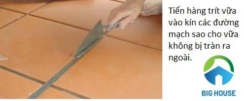 quy trình lát gạch nền nhà