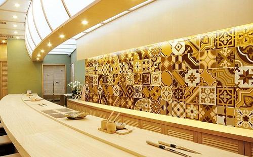 Gạch bông ốp tường có hoa văn – tuyệt chiêu cho không gian lạ mắt