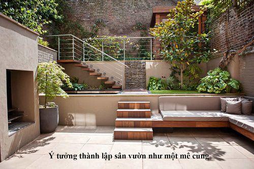gạch lát sân vườn chống trơn