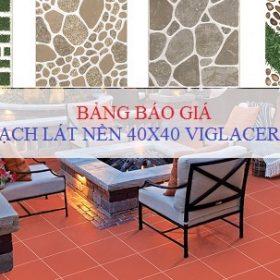 Báo giá gạch lát nền 40×40 Viglacera: Gạch đỏ lát sân, Gạch men