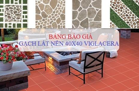 bảng báo giá gạch lát nền viglacera 40x40