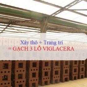 Gạch 3 lỗ Viglacera – Dòng gạch xây không trát số 1 Việt Nam hiện nay