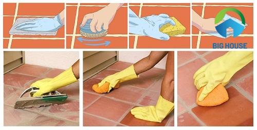 cách tẩy vết xi măng trên nền nhà