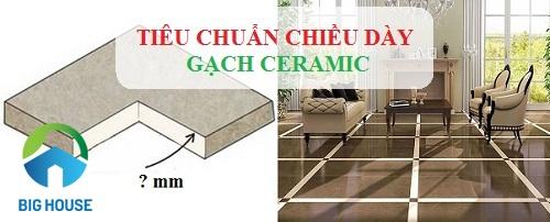 Chọn chiều dày gạch Ceramic đúng chuẩn Việt Nam TCVN 6883:2001