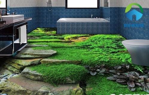 gạch lát nền nhà tắm 3d 4