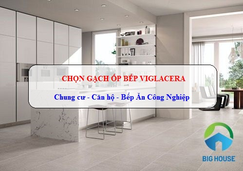 Gạch ốp bếp Viglacera Đẹp cho Chung cư, Căn hộ, Bếp ăn công nghiệp
