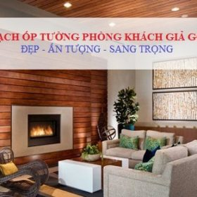 NGUYÊN TẮC chọn gạch ốp tường phòng khách giả gỗ Đẹp – Sang Trọng