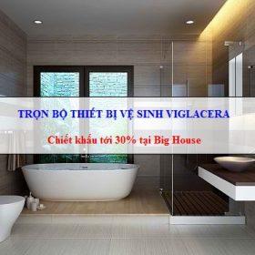 Trọn bộ thiết bị vệ sinh Viglacera: Bồn cầu, Chậu rửa, Sen vòi, Phụ kiện