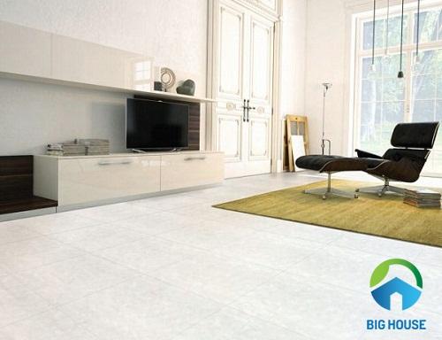 Hạn chế sử dụng gạch nhám cho khu vực phòng khách