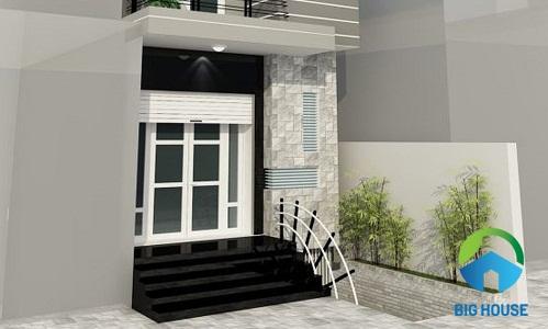 mẫu gạch ốp mặt tiền nhà phố