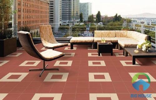 mẫu gạch đỏ cotto chống nóng mái bằng