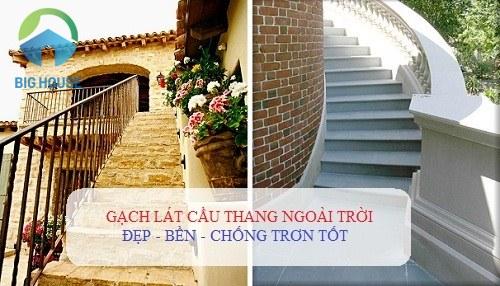 gạch lát cầu thang ngoài trời