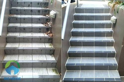 kích thước gạch ốp cầu thang
