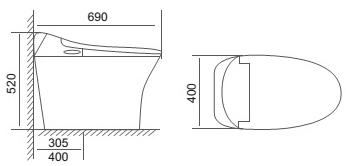 bản vẽ kỹ thuật bồn cầu viglacera V93