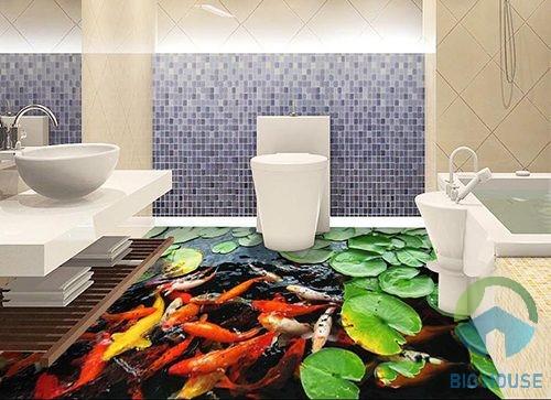gạch lát nền 3d cho phòng tắm