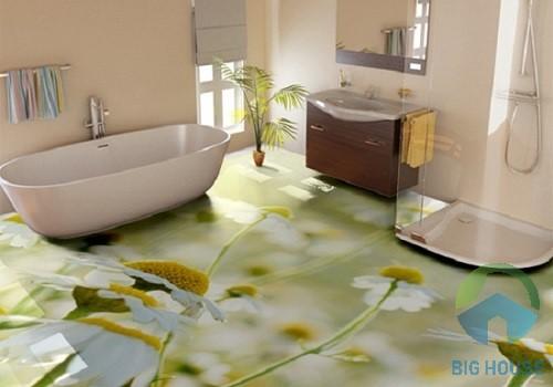 gạch lát nền 3d phòng tắm
