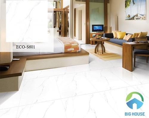 gạch lát nền phòng khách vân đá ECO-S601