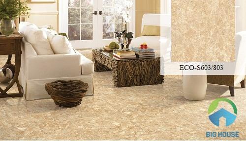 Gạch lát phòng khách sang trọng Viglacera ECO-S603/803