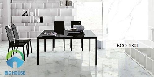 Mẫu gạch lát nền phòng khách Viglacera 80x80 ECO-S803