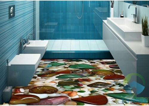 gạch lát nền phòng tắm 3d