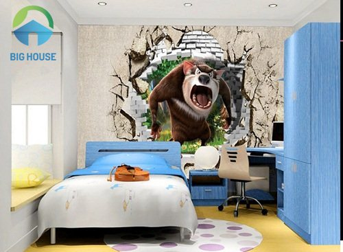 gạch 3d phòng ngủ