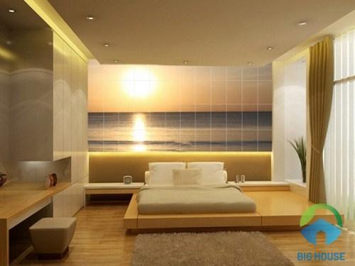 chọn gạch ốp tường phòng ngủ 3d