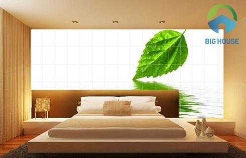 mẫu gạch ốp tường phòng ngủ 3d