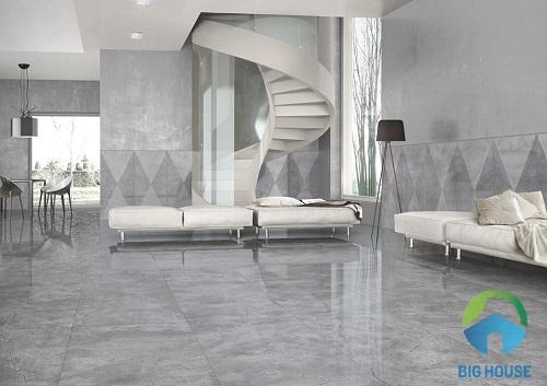 mẫu gạch lát nền phòng khách sang trọng