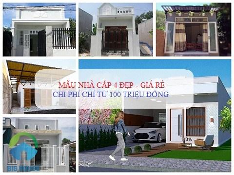 {HOT} Mẫu nhà cấp 4 ĐẸP 100 m2 với chi phí chỉ từ 100 – 300 triệu đồng