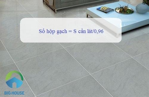 cách tính gạch lát nền 40x40 theo hộp