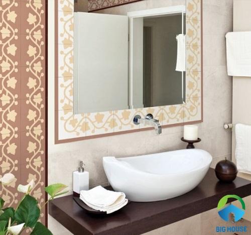 Ứng dụng mẫu gạch bông nổi bật cho nhà tắm