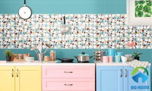 Mẫu gạch bông ốp tường bếp 5 màu Đồng Tâm GK1287Q01
