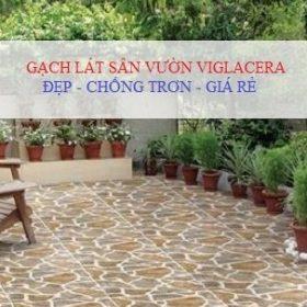 Các kiểu lát sân đẹp với gạch lát sân vườn Viglacera Chống Trơn