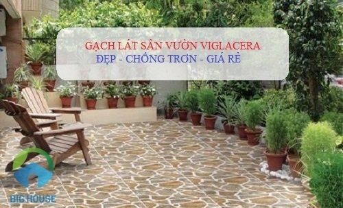 Các kiểu lát sân đẹp với gạch sân vườn chống trơn Viglacera cho từng thiết kế