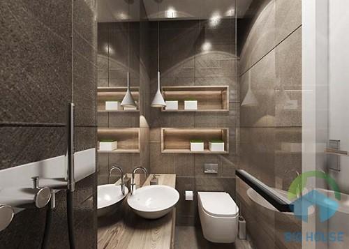 cách phối màu gạch ốp lát nhà tắm đẹp