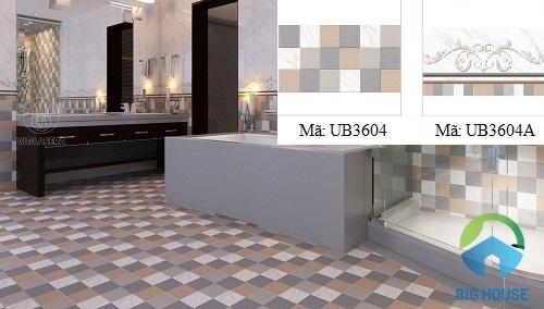 phối màu gạch nhà tắm UB3604, UB3604A