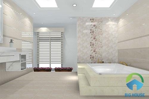 phối màu gạch nhà vệ sinh viglacera