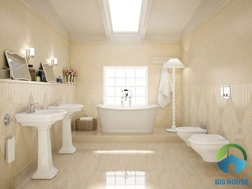 phối màu gạch ốp nhà tắm