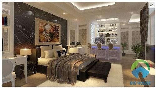 đá ốp tường phòng ngủ 1