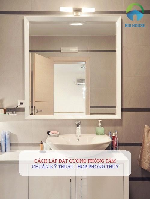 Cách lắp gương đứng cho phòng tắm đơn giản và nhanh chóng