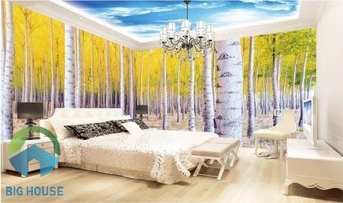 gạch 3d ốp tường phòng ngủ 2