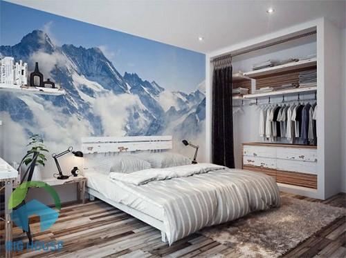 gạch 3d ốp tường phòng ngủ