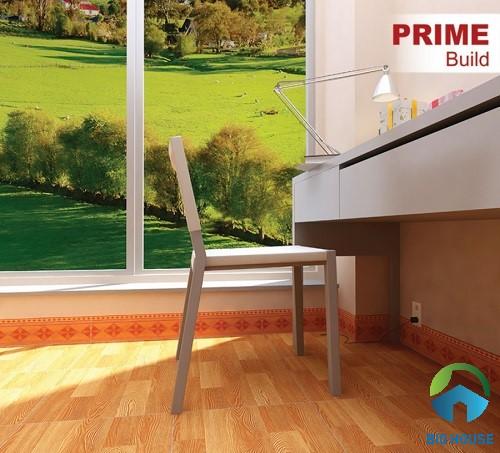 Mẫu gạch giả gỗ kích thước 40x40 Prime cho diện tích nhỏ