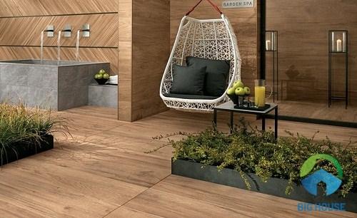 gạch giả gỗ lát sân vườn viglacera