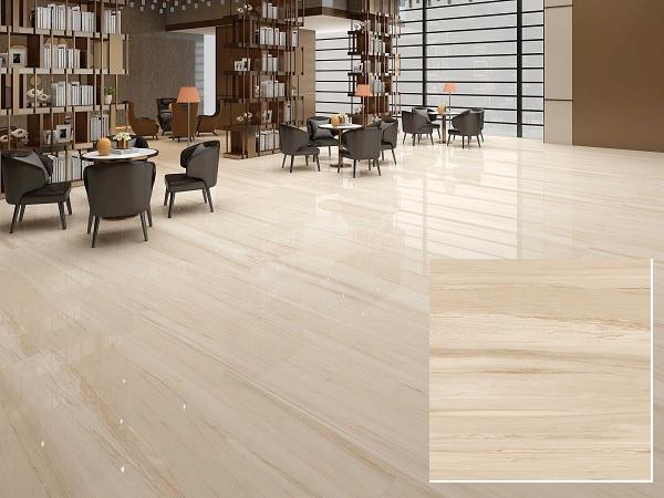 Mẫu gạch vân gỗ Hoàn Mỹ 55004 bề mặt bóng kính sang trọng