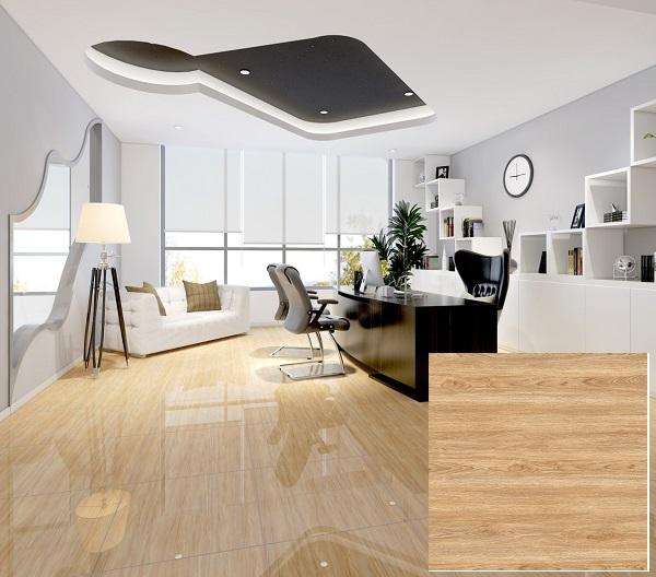 Mẫu gạch giả gỗ màu sáng Vitto 3150 cho phòng khách thêm hiện đại